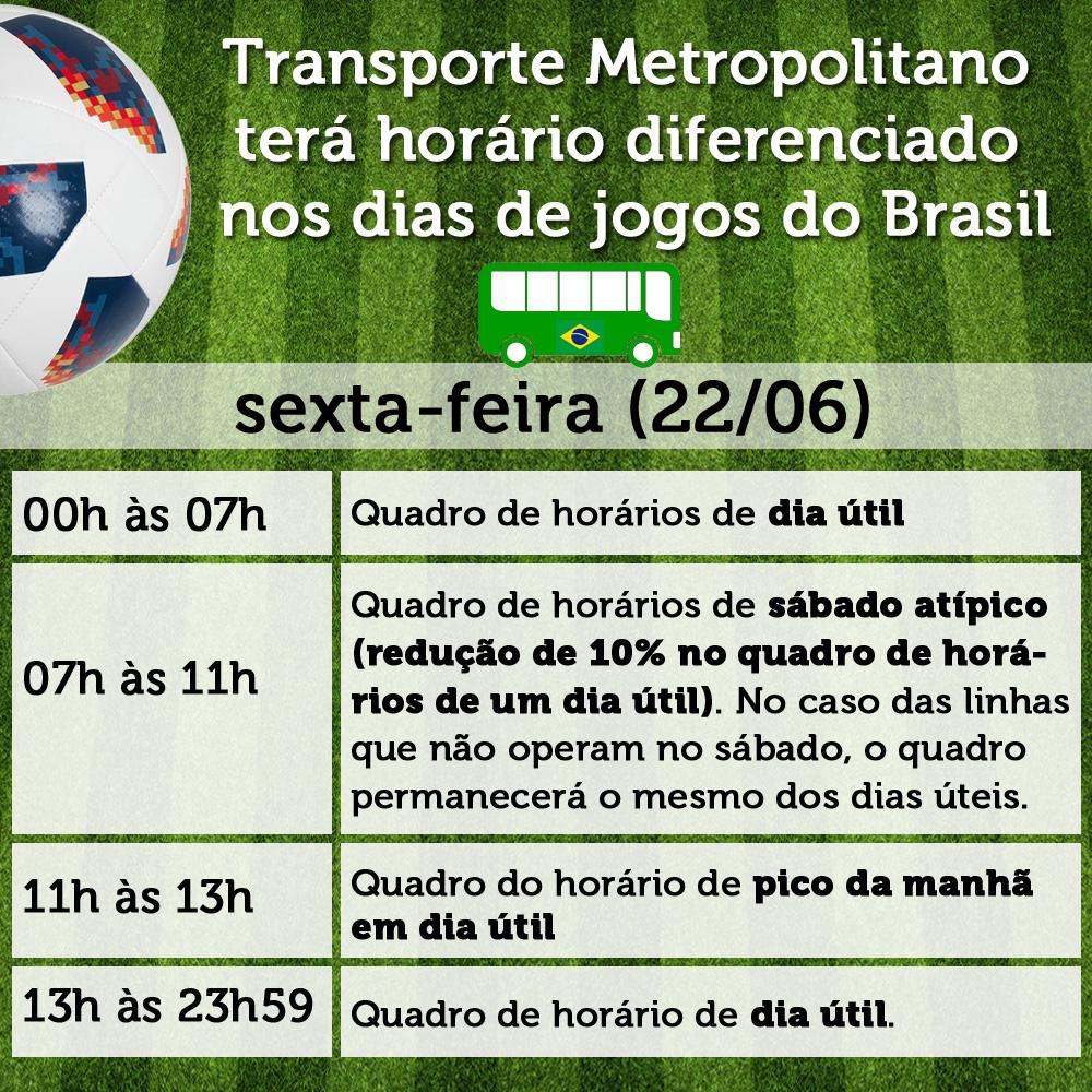 0e693dc864 Transporte Metropolitano terá horário diferenciado nos dias de jogos ...